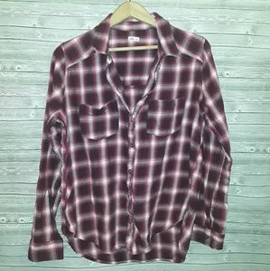 Hollister plaid long sleeve